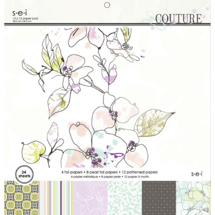 Набор бумаги 30х30 см, коллекция Couture для скрапбукинга