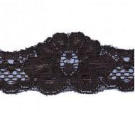 Кружево стрейч коричневое, 35 мм