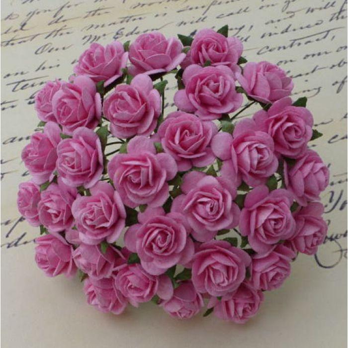 Розы ярко-розовые, 20 мм для скрапбукинга