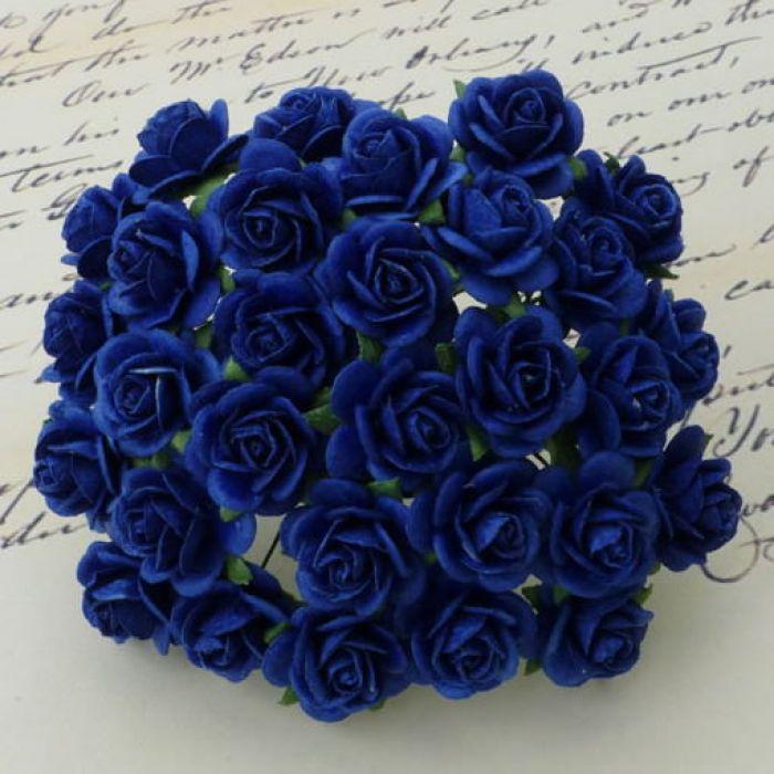 Розы ярко-синие, 10 мм для скрапбукинга