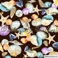 Отрез ткани 9, коллекция Морские ракушки