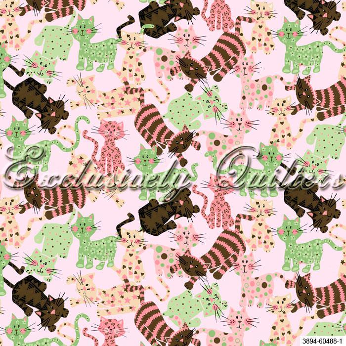 Отрез ткани 1, коллекция Пёстрые котята для скрапбукинга