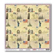 Бумага Почтовая карточка, коллекция Вокруг Света