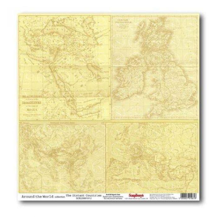 Бумага Дальние страны, коллекция Вокруг Света для скрапбукинга