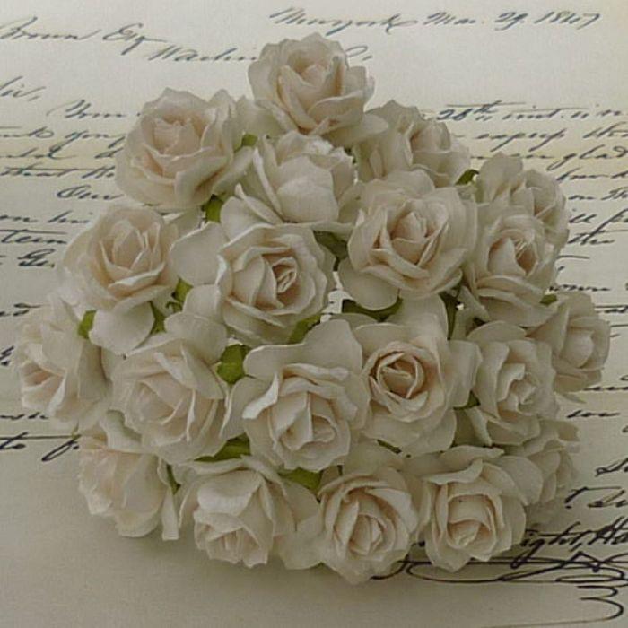 Роза дикая цвета слоновой кости, 30 мм для скрапбукинга