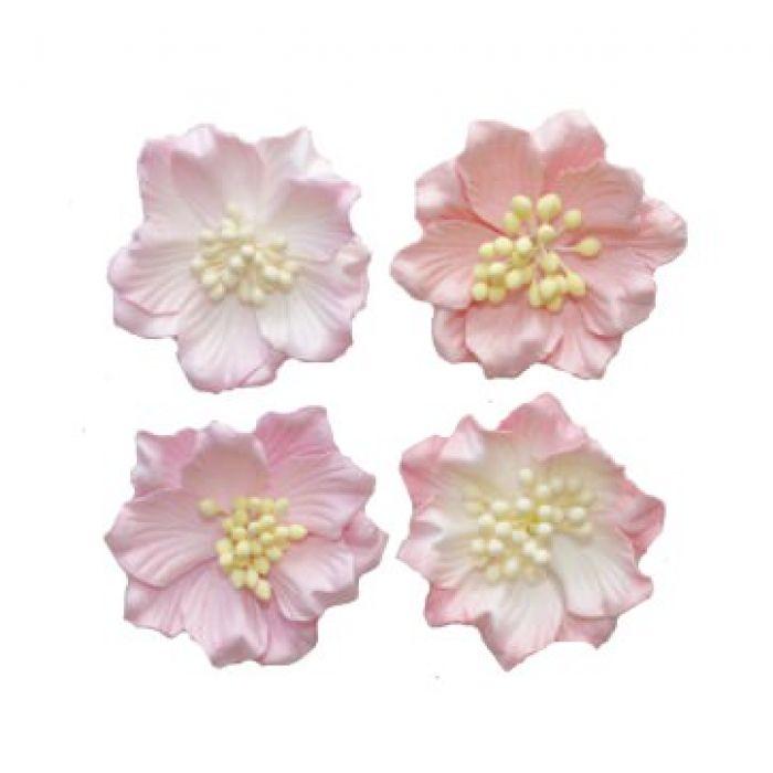 Гардении микс розовые для скрапбукинга