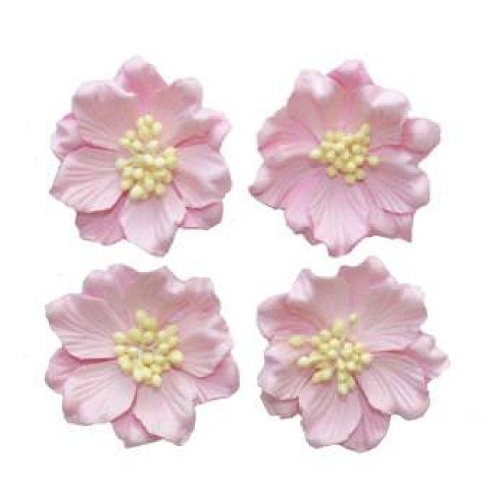 Гардении нежно-розовые для скрапбукинга