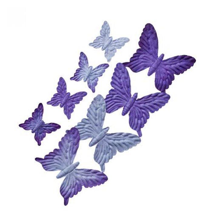 Набор бабочек Оттенки синего и фиолетового для скрапбукинга