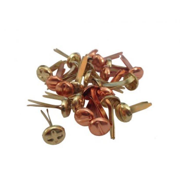 Набор брадсов винтики (металлик) 5,5 мм для скрапбукинга