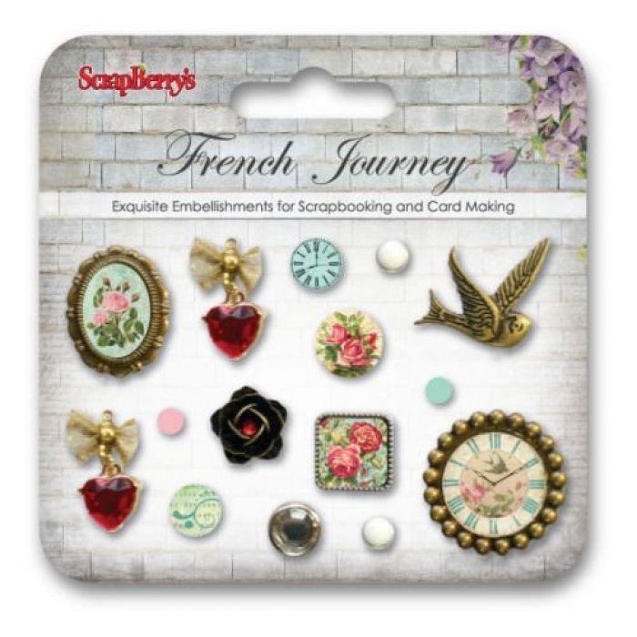 Набор брадсов Французское путешествие для скрапбукинга