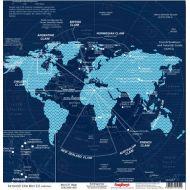 Бумага Карта Мира, коллекция Вокруг Света