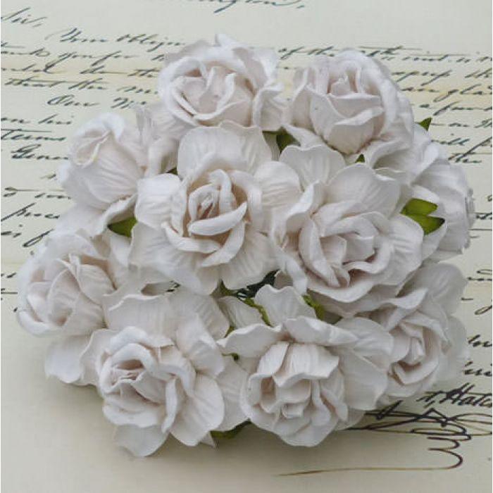Розы дикая белая 40 мм для скрапбукинга