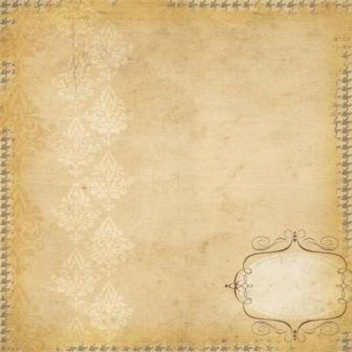 Бумага BRACKET LABEL/HOUNDSTOOTH, коллекция Documented для скрапбукинга