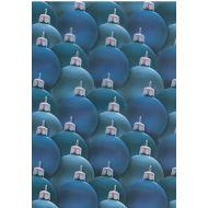 Веллум новогодние синие шары