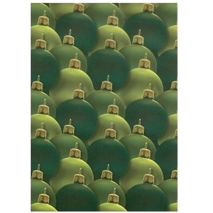 Веллум новогодние шары цвета еловых иголок для скрапбукинга