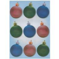 Веллум три новогодних шарика