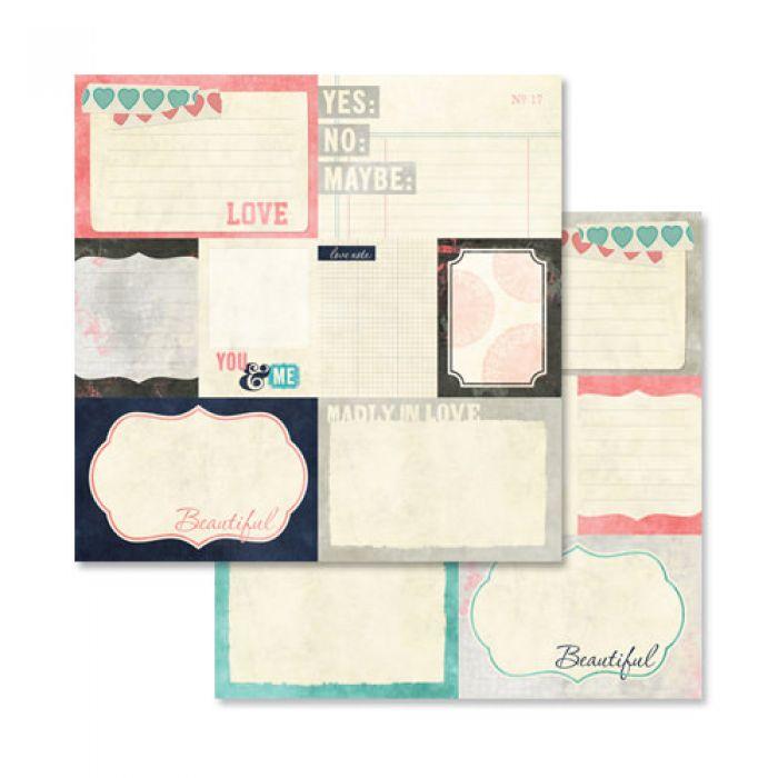 Бумага GLITZ BITS & PIECES, коллекция LOVE YOU MADLY для скрапбукинга