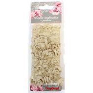Лента с розами тканевыми ТЕПЛО-РОЗОВАЯ