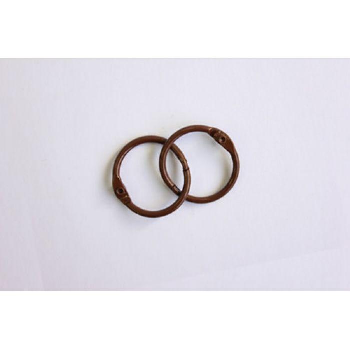 Кольца для альбомов 2 шт темно-коричневые 20 мм для скрапбукинга