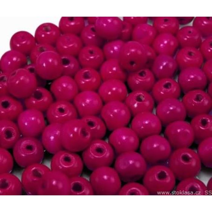 Бусины деревянные лакированные розовые для скрапбукинга