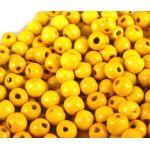 Бусины деревянные лакированные желтые