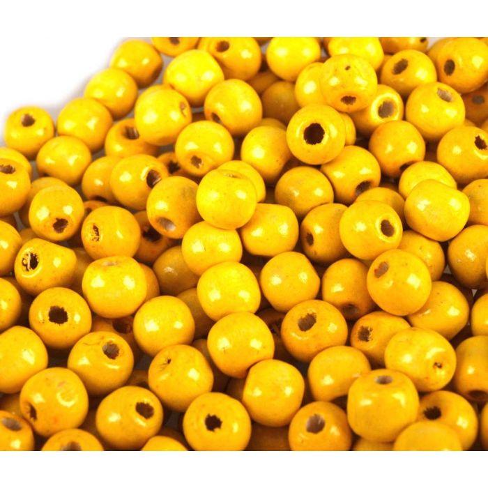 Бусины деревянные лакированные желтые для скрапбукинга