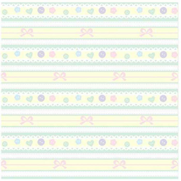 Бумага тесьма с пуговками розовая для скрапбукинга