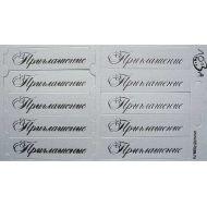 """Шильдики """"Приглашение"""" белый перламутровый/серебряный"""