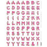 """Бумага для вырезания """"Алфавит - Розовый с ромашками"""""""