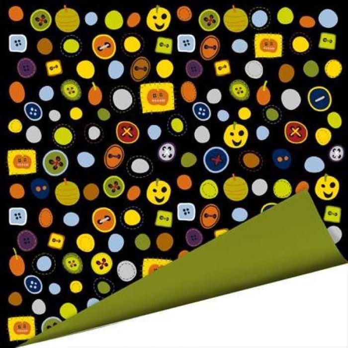 Бумага Boo Buttons, коллекция Spooky Town для скрапбукинга
