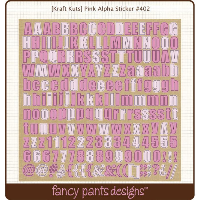 Наклейки Алфавит розовый для скрапбукинга