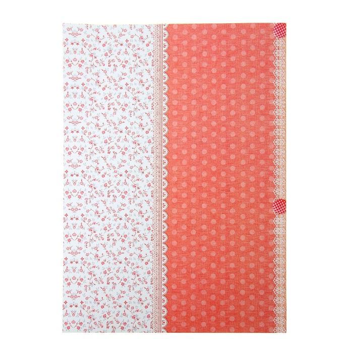 Бумага Пуговицы розовые , А4  для скрапбукинга