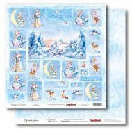 Бумага Карточки 1, коллекция Русская Зима