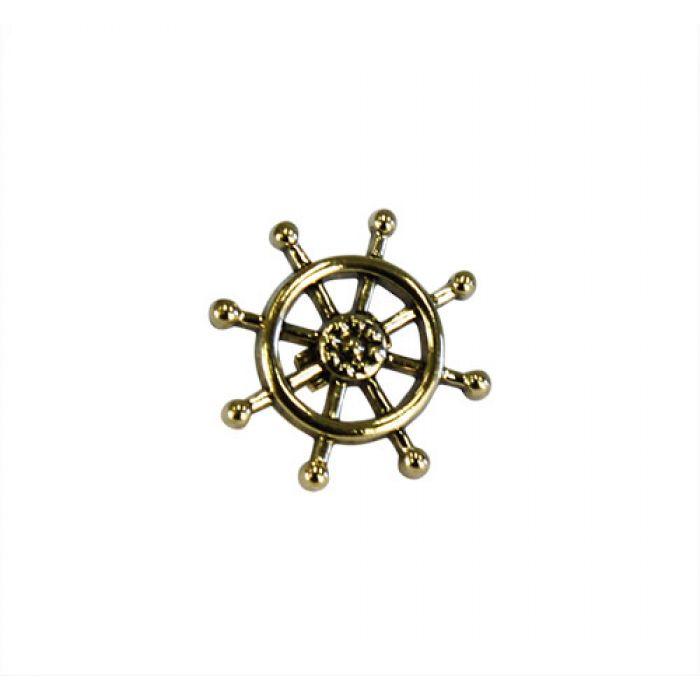 Пуговица штурвал золотой, 15 мм  для скрапбукинга