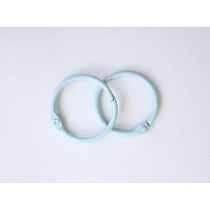 Кольца для альбомов 2 шт голубые 35 мм для скрапбукинга