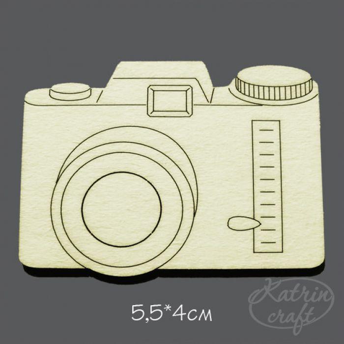 Чипборд Фотоапарат №2 для скрапбукинга