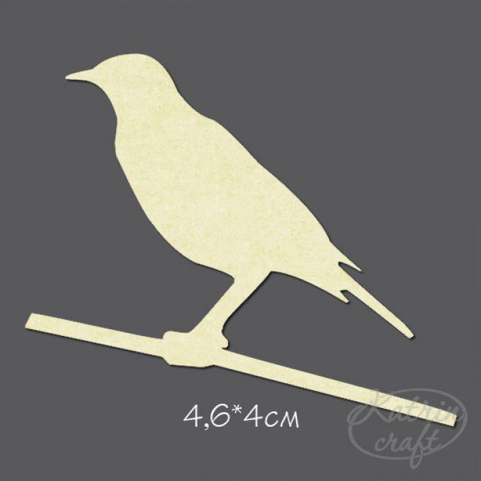 Чипборд Птица №7 маленькая для скрапбукинга