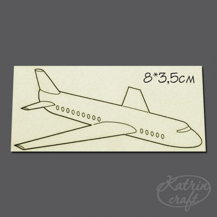 Чипборд Самолет маленький для скрапбукинга