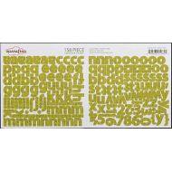 """Наклейки Алфавит """"Khaki Type"""""""