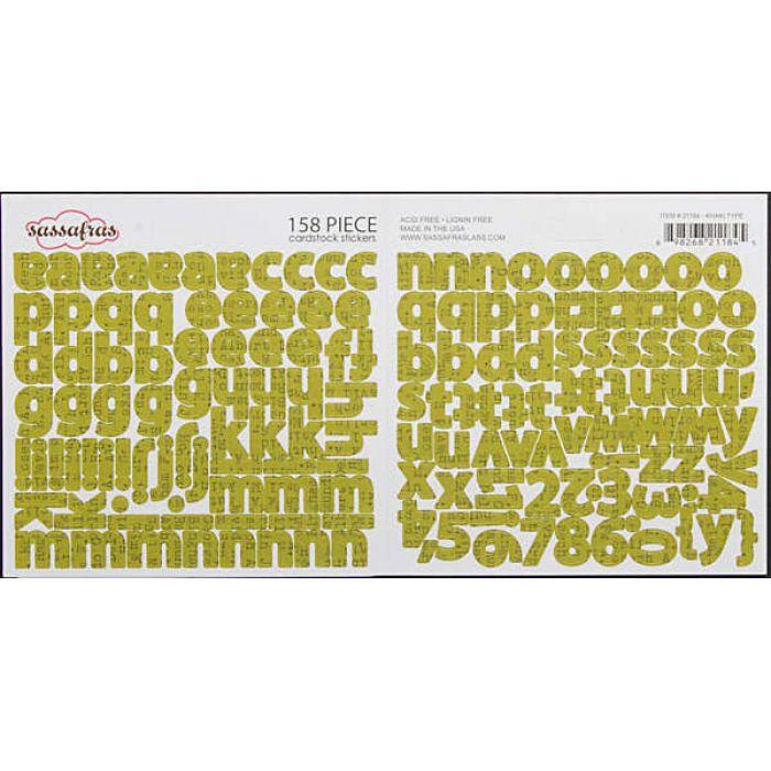 "Наклейки Алфавит ""Khaki Type""  для скрапбукинга"