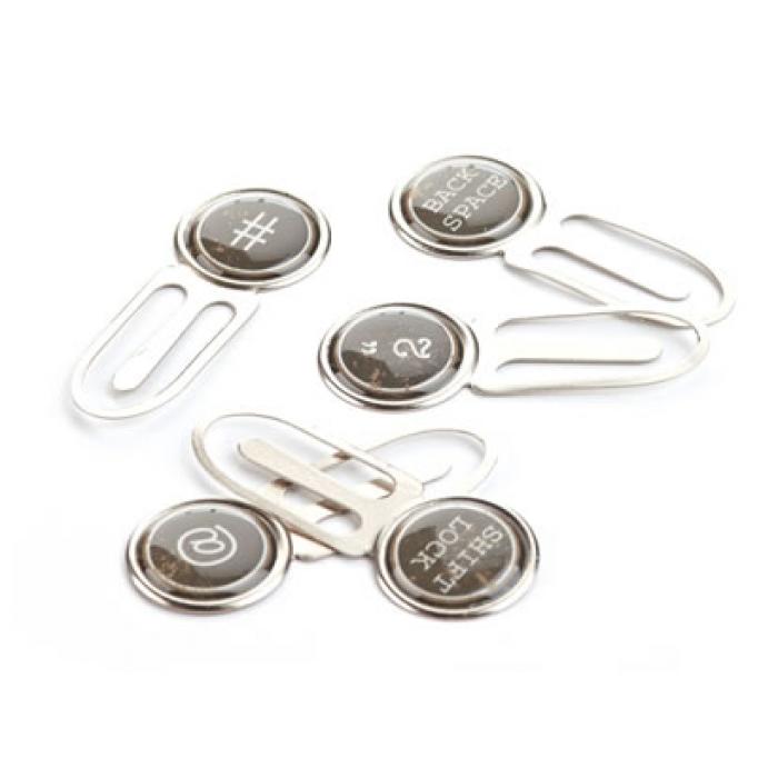 Набор скрепок White, коллекция Basics для скрапбукинга