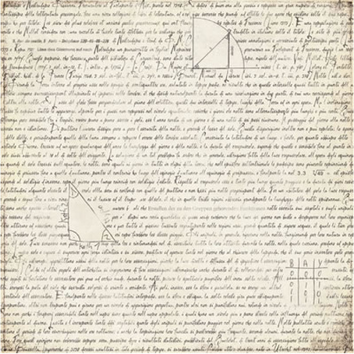Бумага Glossary, коллекция Basic Manila для скрапбукинга