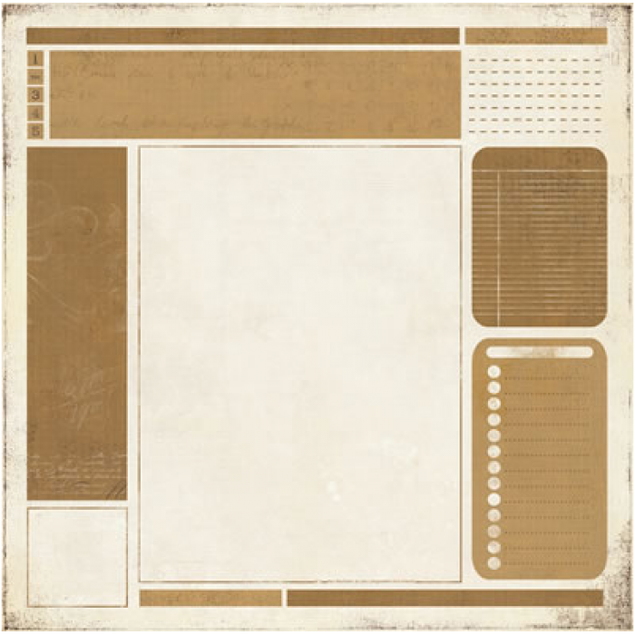 Бумага Bulletin, коллекция Basic Manila для скрапбукинга