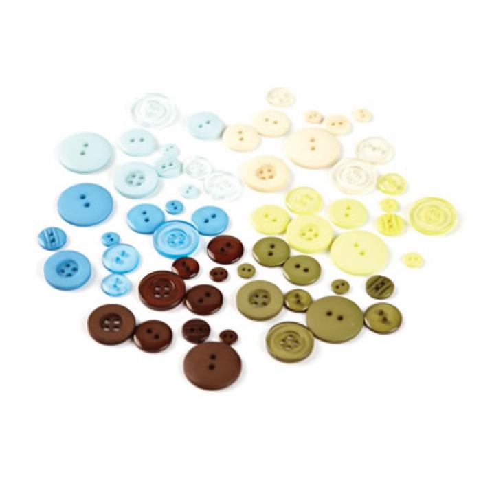 Набор пуговиц, коллекция Marjolaine для скрапбукинга