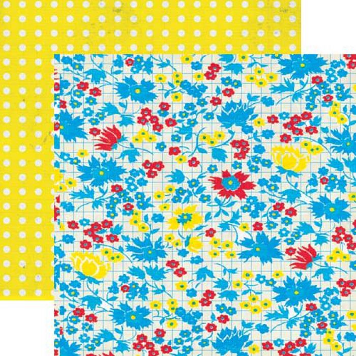 Бумага Posies, коллекция Hello Sunshine для скрапбукинга