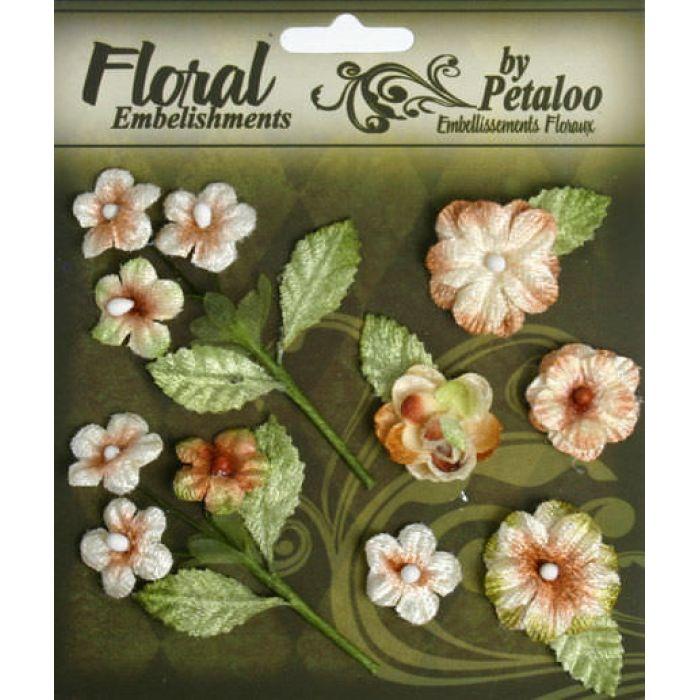 Набор цветов Букет кремовый для скрапбукинга