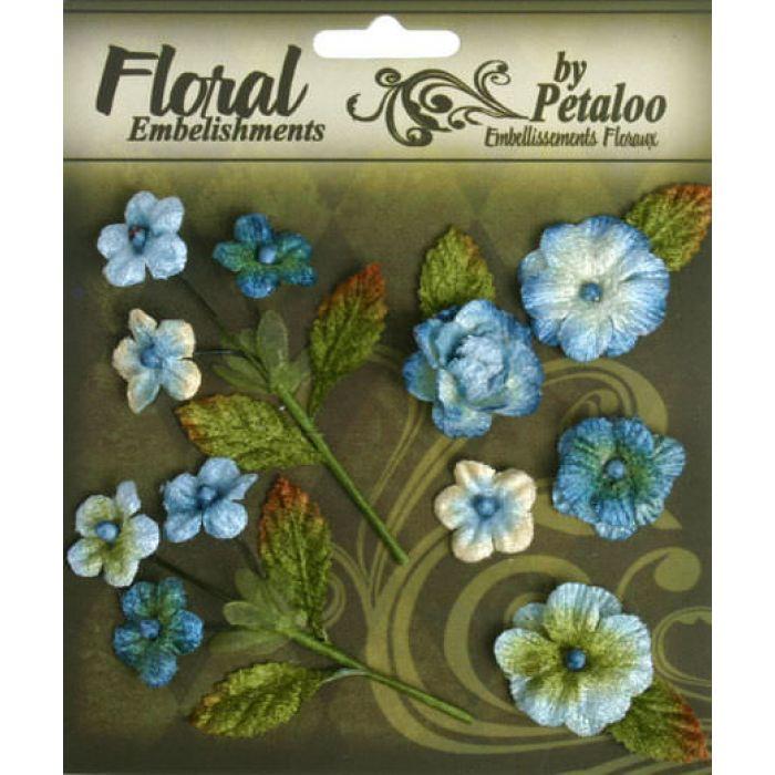 Набор цветов Букет голубой для скрапбукинга