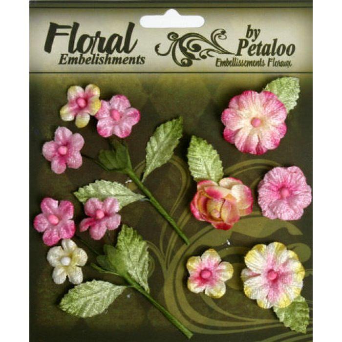 Набор цветов Букет розовый для скрапбукинга