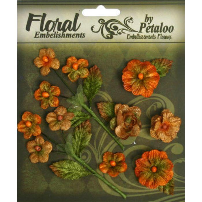 Набор цветов Букет тыквенный для скрапбукинга