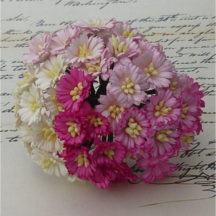 Ромашки бело-розовые для скрапбукинга